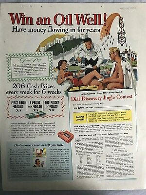 Dial~Soap~Win~A~Oil~Well~Dial~Discovery~Jingle~Contest~1953 Vintage Print AD A32