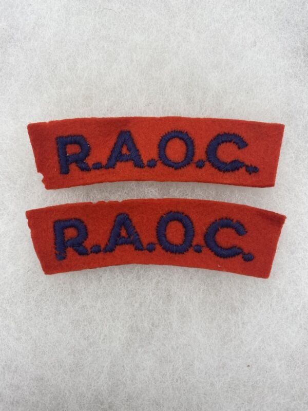 British Royal Army Ordnance Corp Tabs Felt Set (E765