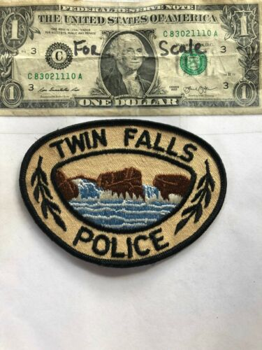 Twin Falls Idaho Police Patch Un-sewn in great shape