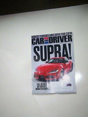 Car and Driver MAGAZINE Feb 2019 FREE SHIPPING New SUPRA 10 best TRUCKS & SUVS (Best New Drivers 2019)