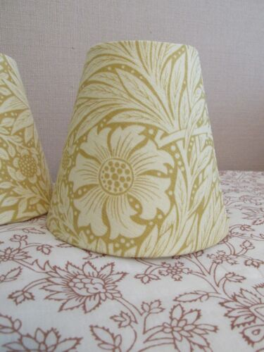 Handmade+Candle+Clip+Lampshade+William+Morris+Marigold+fabric+in+Cowslip+Yellow