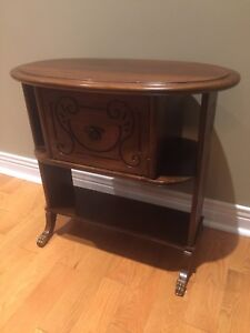 Antique End Table/ Console/ Lamp Table - Walnut