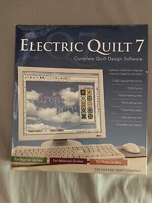 NEW Sealed Electric Quilt 7 Complete Design Software Windows XP, Vista Windows 7