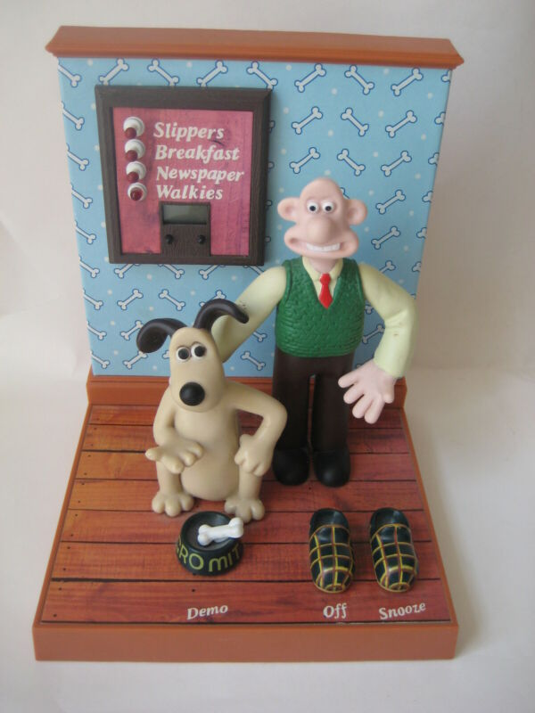 Wallace & Gromit talking alarm CLOCK vtg a close shave Wesco watch toy figure
