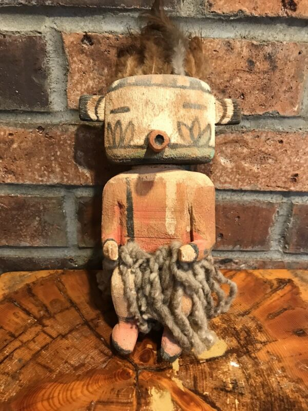 Antique Vintage Hopi Kachina Doll Early 1900's  Carved & Painted  Cottonwood