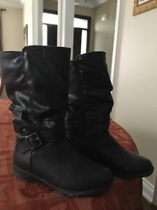 Girls Cougar Tall Black Boots Size 1