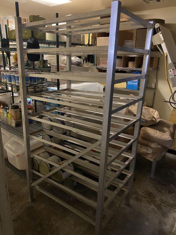 Aluminum Full Size Restaurant Stationary Can Rack