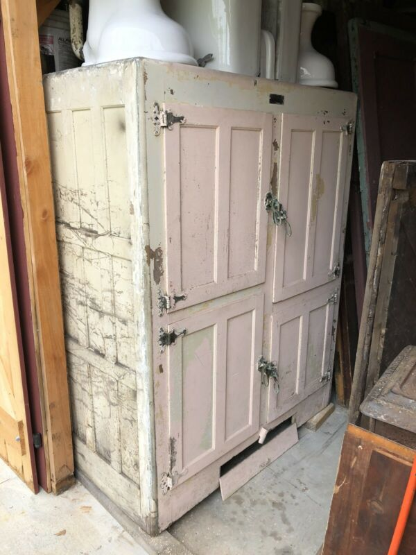 Large Antique Oak Ice Box