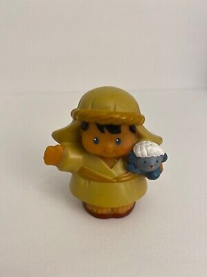 Fisher Price Little People Shepherd Holding Sheep 2009 Replacement Nativity