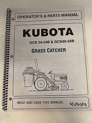 Kubota Gck54-24b Gck60-24b Grass Catcher Operators Parts Manual