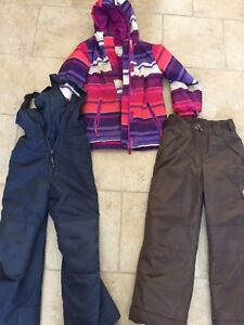 Girls winter jacket and snow pants