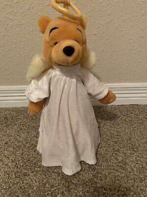 Disney Store Winnie The Pooh Bear Christmas Angel Tree Topper