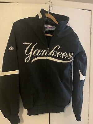New York Yankees Majestic Official Authentic Jacket On The Field Size Medium NY