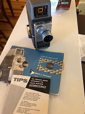 Vintage Old Bell & Howell 8mm Movie Camera Electric Eye - A Collector's Gift