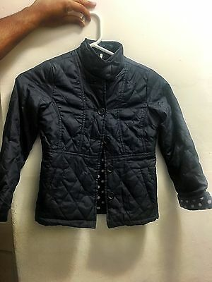 THE CHILDRENS PLACE Long Sleeve Quilted Navy Jacket (size 5/6)