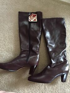 Ladies leather boots and shoes