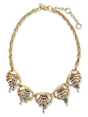 Banana Republic Sea Life Crystal Fringe Necklace NWOT $68