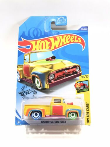 2020 Hot Wheels K Case Custom '56 Ford Truck Treasure Hunt HW Art Cars 10/10 For Sale - 2