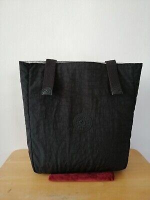 "New Genuine Kipling Black Medium 10.5"" x 12'' Padded Bag"