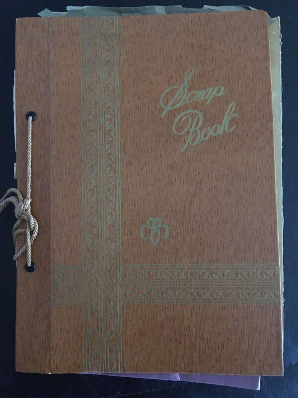 Vintage 1960s Girl Scout Brownies SCRAPBOOK-Filled-Papers-Troop 397 Lakewood CA