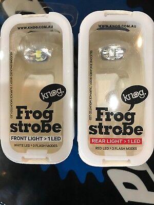New Fixio Bike Cycling Frog LED Front Head Rear Light Waterproof Lamp Black GK