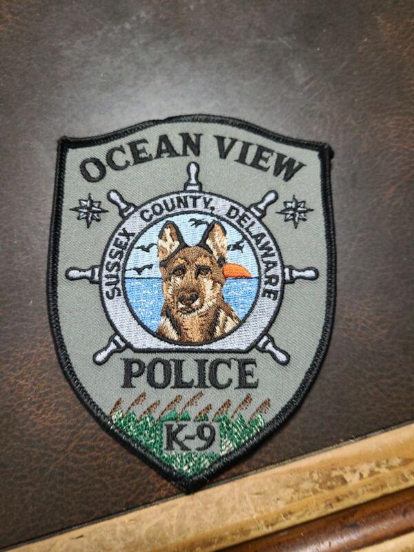 Vintage Police Patch Ocean View  Sussex Co. Delaware K9 Unit