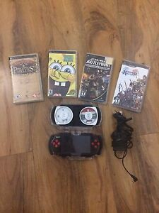 Perfect condition PSP with 5 Games