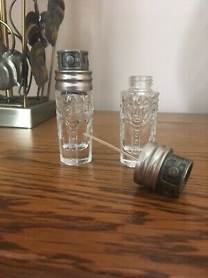 Thierry Mugler Womanity x 2 empty refillable glass perfume bottles 10ml size