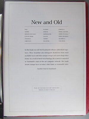 Type Specimen Of Berthold Typefaces Sarabande Press