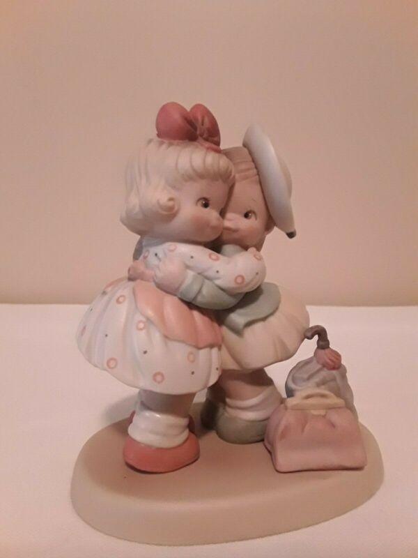 1990 Vintage Enesco Porcelain Figurine Greatest Treasure The World Can Hold