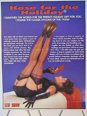 ANTIQUE Leg Show Magazine Full Fashion Stockings Black Seam Cuban Heel Keyhole !
