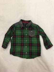 Souris Mini Plaid Button Down and Trousers. Size 18months