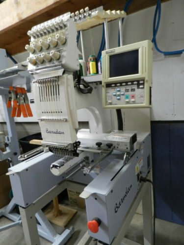 BARUDAN 1 HEAD / 9 NEEDLE / 9 COLOR / EMBROIDERY MACHINE / USED
