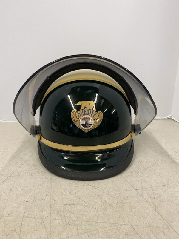 Vintage Los Angeles California Sheriff Dept Motorcycle Helmet Police L.A. County