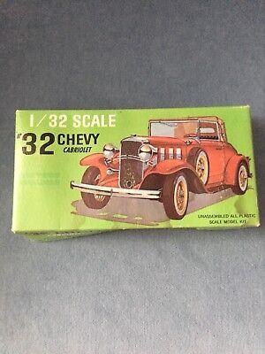 Vintage 1932 Chevy Cabriolet Model Car 1/32 Scale,