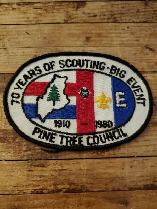 1980 70 Years of Scouting Big Event Pine Tree Council Maine Boy Scout BSA Patch