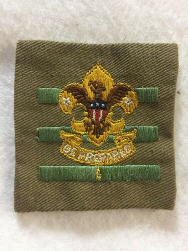 (46ae) Boy Scouts-  cut edge Senior Patrol Leader position patch