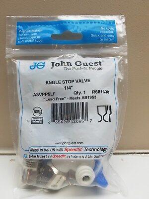 - John Guest ASVPP5LF Angle Stop Adapter Valve 1/2