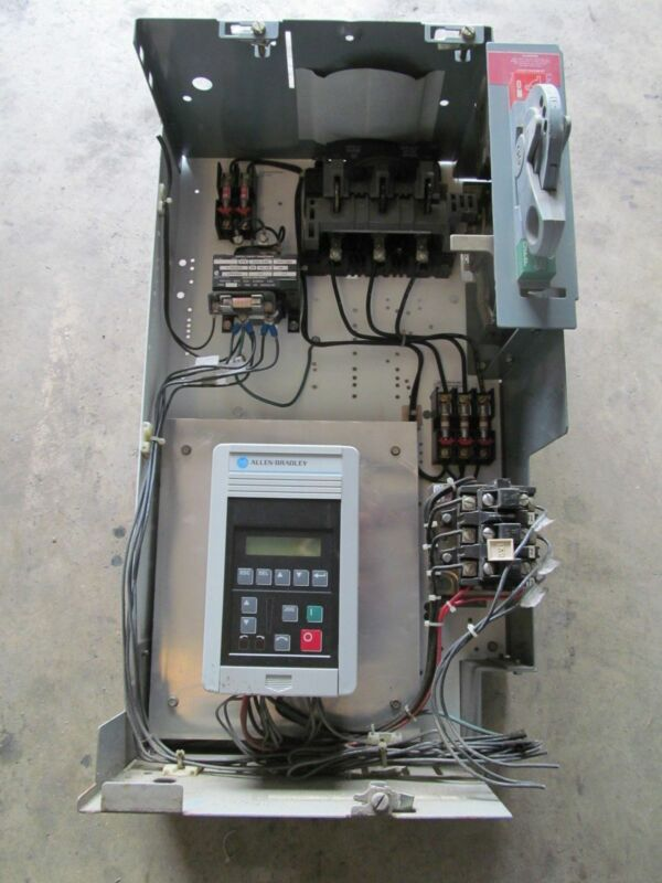 "Allen Bradley 2100 Series 25"" Motor Control  With 1305 1 HP Drive"