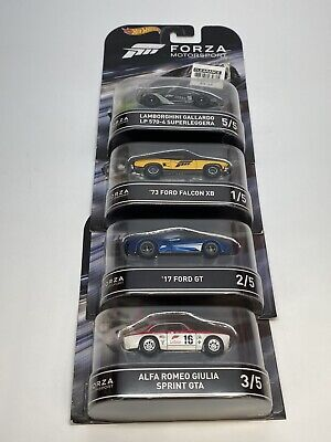 Hot Wheels Forza Motorsport Retro Entertainment 2016 Set Of 4 *Brand New*