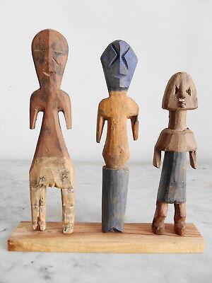 Set of 3 Statuettes Aklama Adan Ade Ada Ewe Art