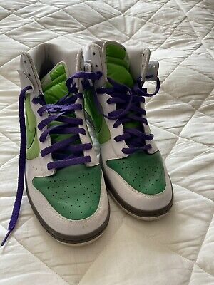 DS Nike Dunk High White Victory Green