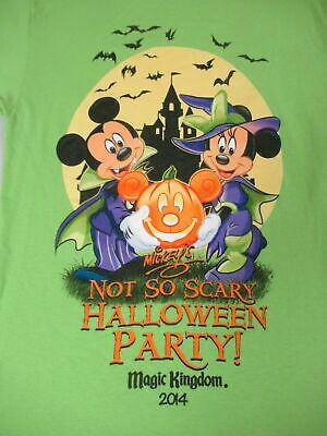 DISNEY PARKS MICKEY'S NOT SO SCARY HALLOWEEN PARTY  - GREEN SMALL T-SHIRT- - A Not So Scary Halloween Disney