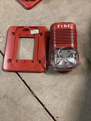 System Sensor Fire Alarm Horn Strobe Spectralert Model P241575