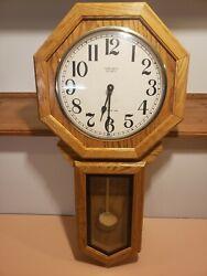 Vintage Verichron Quartz Regulator Wooden Wall Clock Westminister Chime