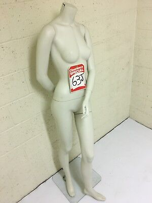 Matte White Headless Female Mannequin - Used Showroom Model - 63 J