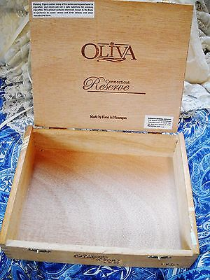 OLIVA CT RESERVE TORO WOOD CIGAR BOX NICARAGUA ONCE HELD 20 CIGARS, NOW EMPTY - $6.00