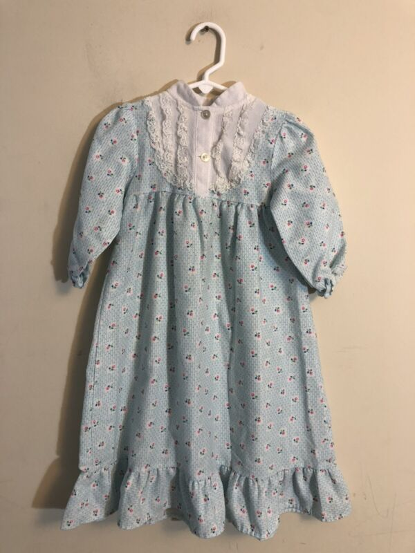 Vintage Girl's Floral Nightgown Made In USA. Size 5T