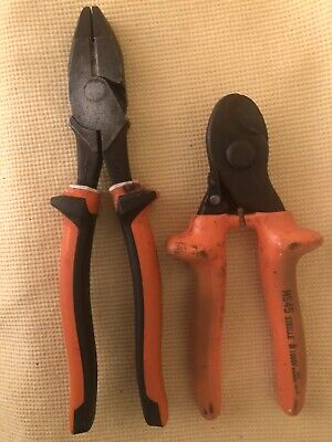 Klein Tools 213-9ne-eins Side Cutting Pliers And Sibille Ms45 Wire Cutter 14mm