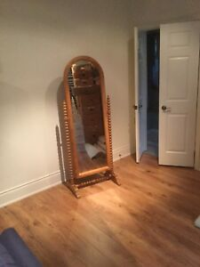 A BEAUTIFUL PINE CHEVAL MIRROR
